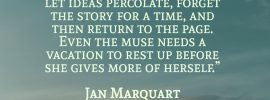 Writer's Block Quote Jan Marquart