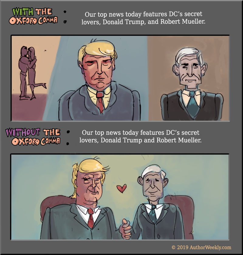 Oxford Comma Cartoon Trump