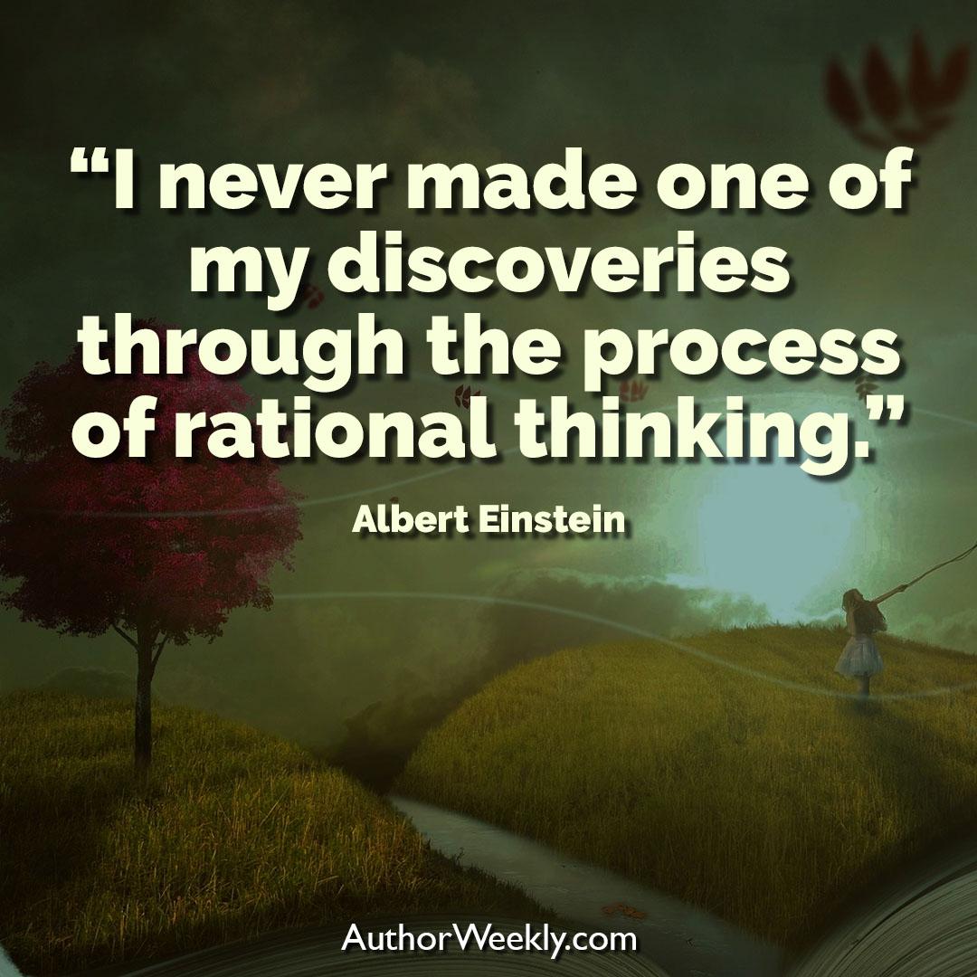 Albert Einstein Creativity Quote Rational Thinking