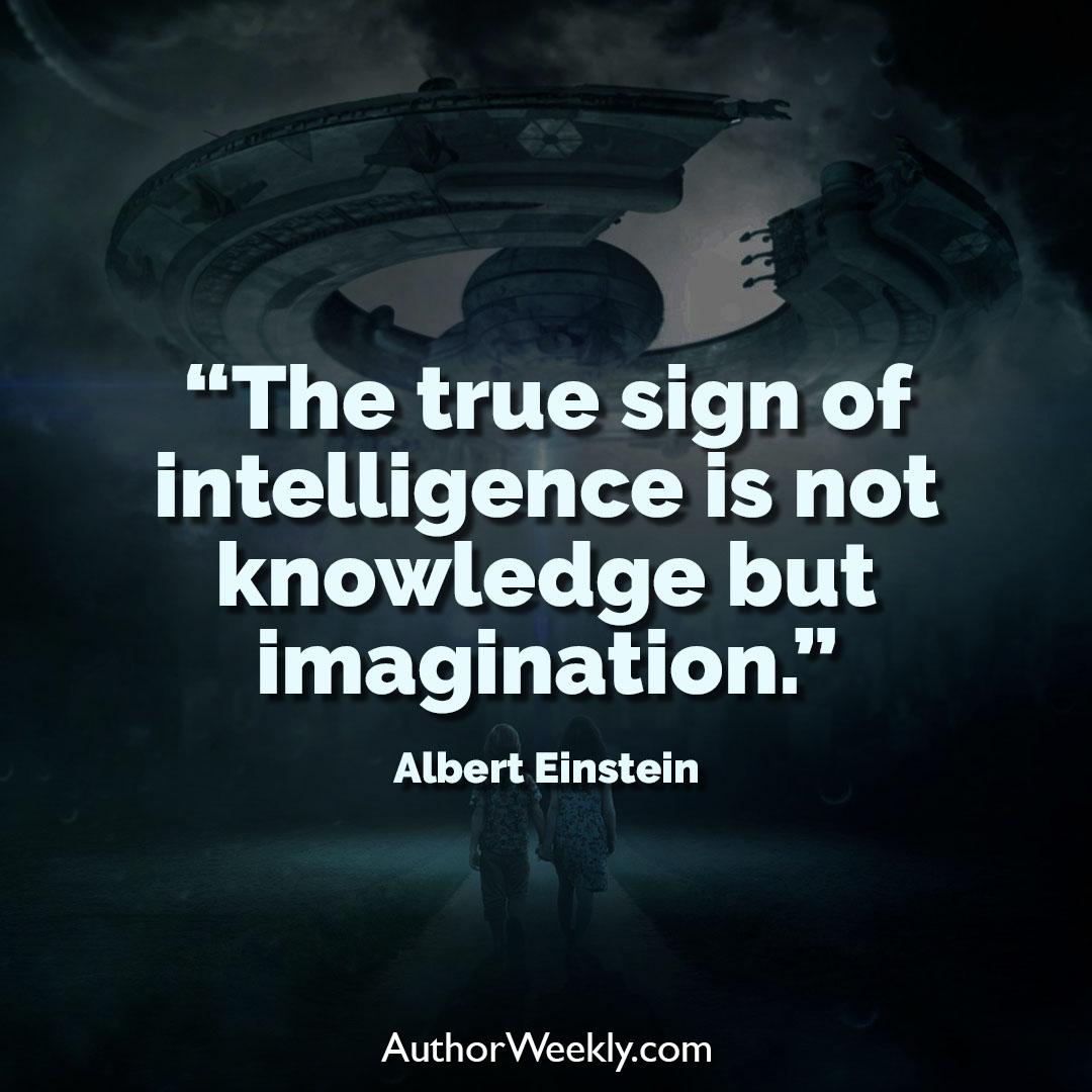 Albert Einstein Creativity Quote True Sign of Intelligence