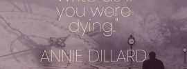 Annie Dillard Quote Write As If You Were Dying