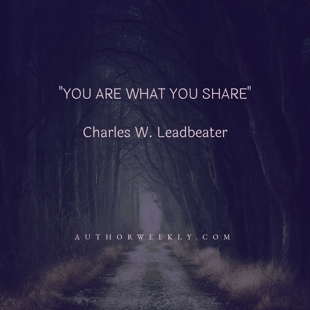 Charles W. Leadbeater Writing Quote Share