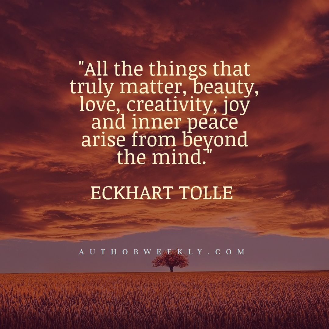 Eckhart Tolle Creativity Quote Beyond the Mind