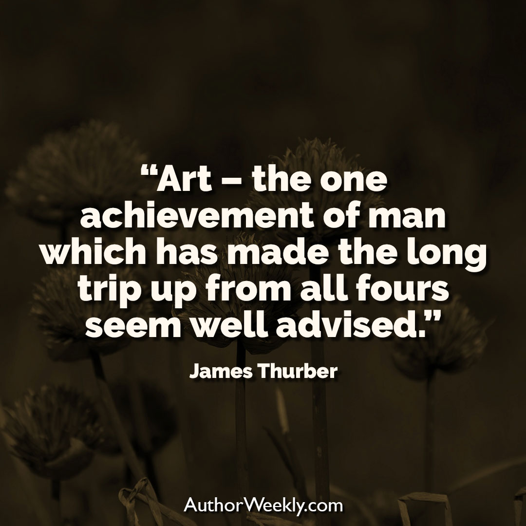 James Thurber Creativity Quote Art