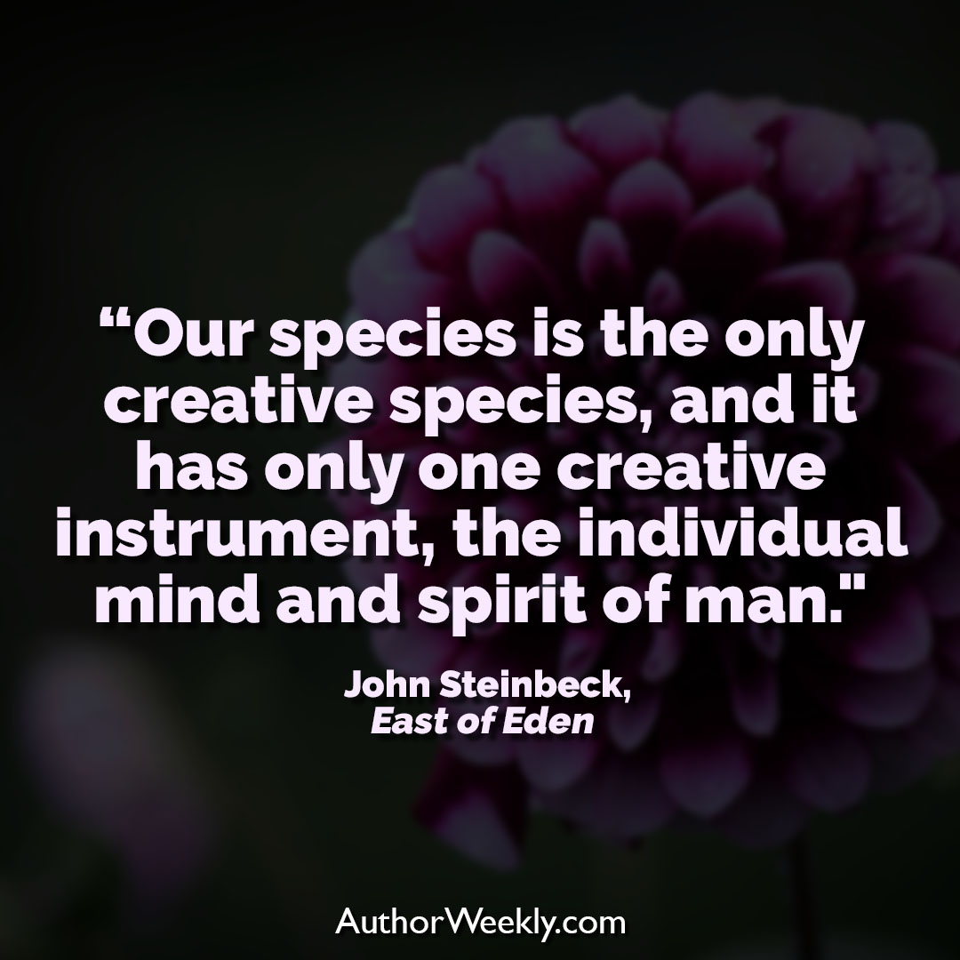 John Steinbeck Writing Quote Only Creative Species