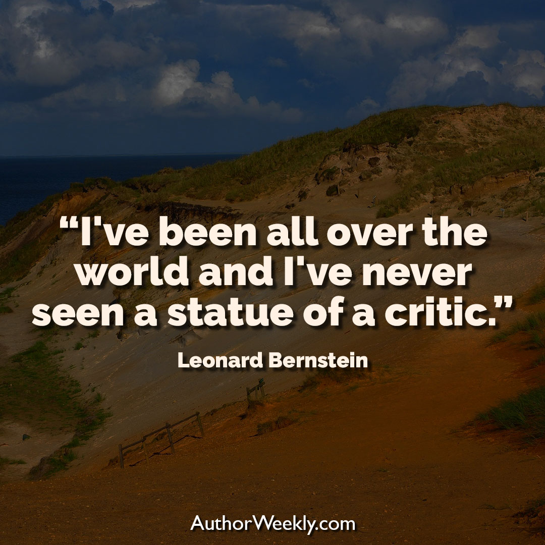 Leonard Bernstein Creativity Quote Statue of a Critic