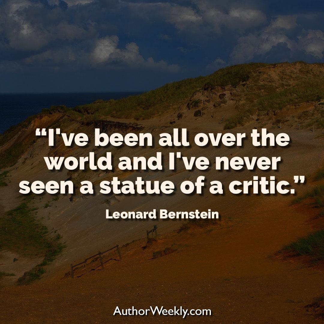 Leonard Bernstein Creativity Quote Statue of a Critic
