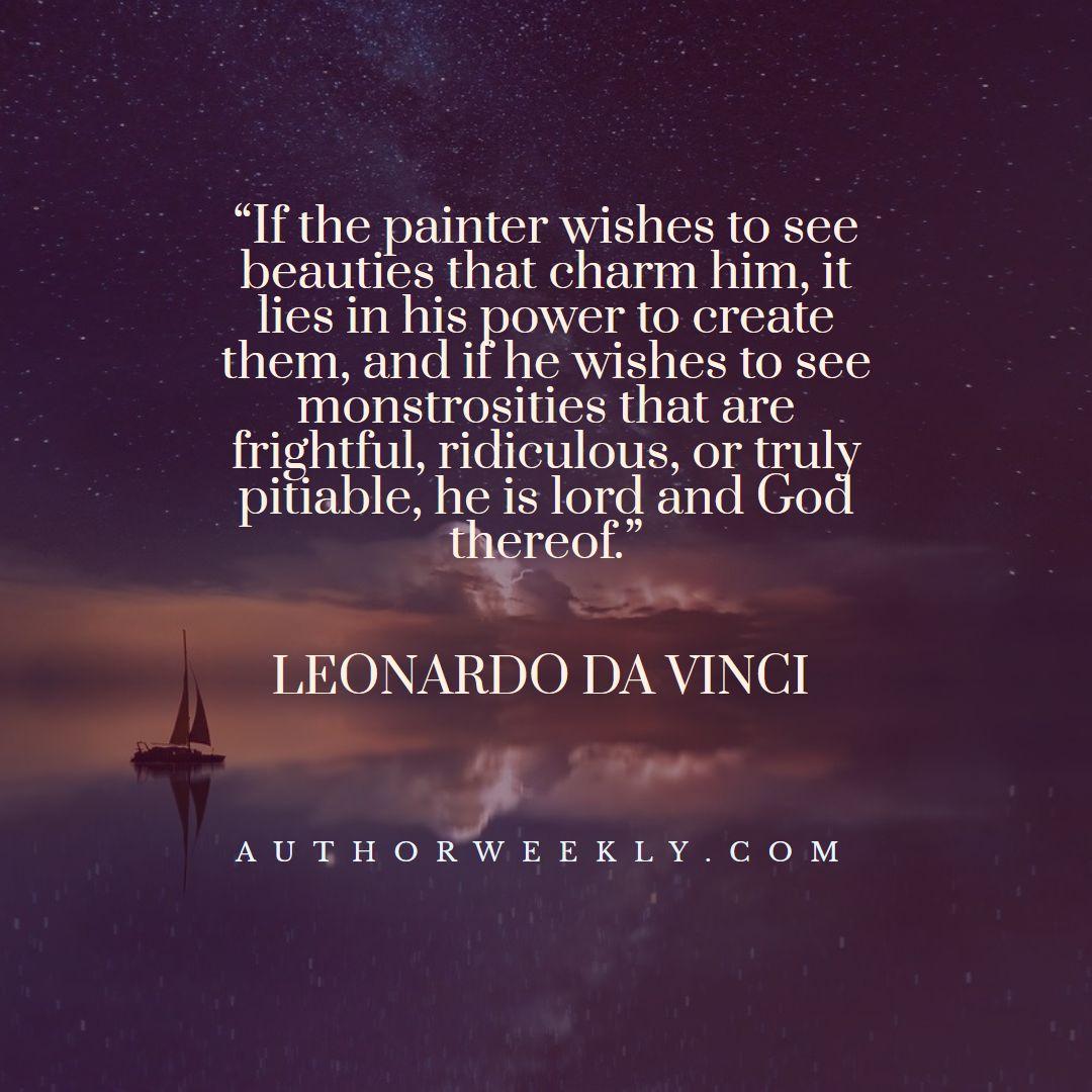 Leonardo Da Vinci Creativity Quote Lord and God Thereof