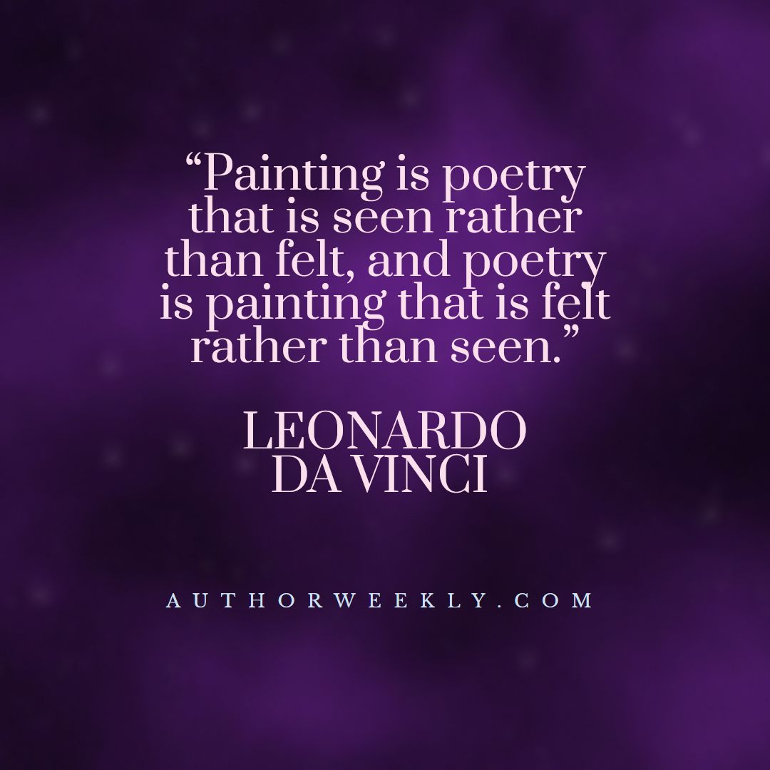 Leonardo Da Vinci Creativity Quote Painting is Poetry