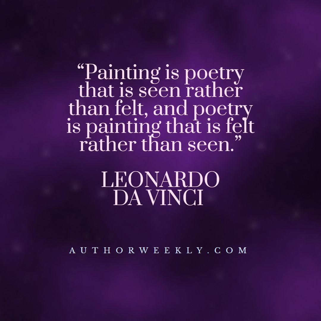 Leonardo Da Vinci Creativity Quote Painting is Poetry