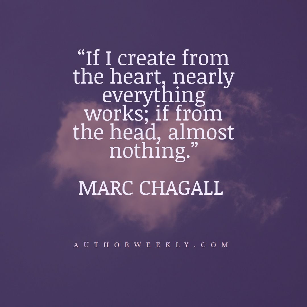 Marc Chagall Creativity Quote Create from the Heart