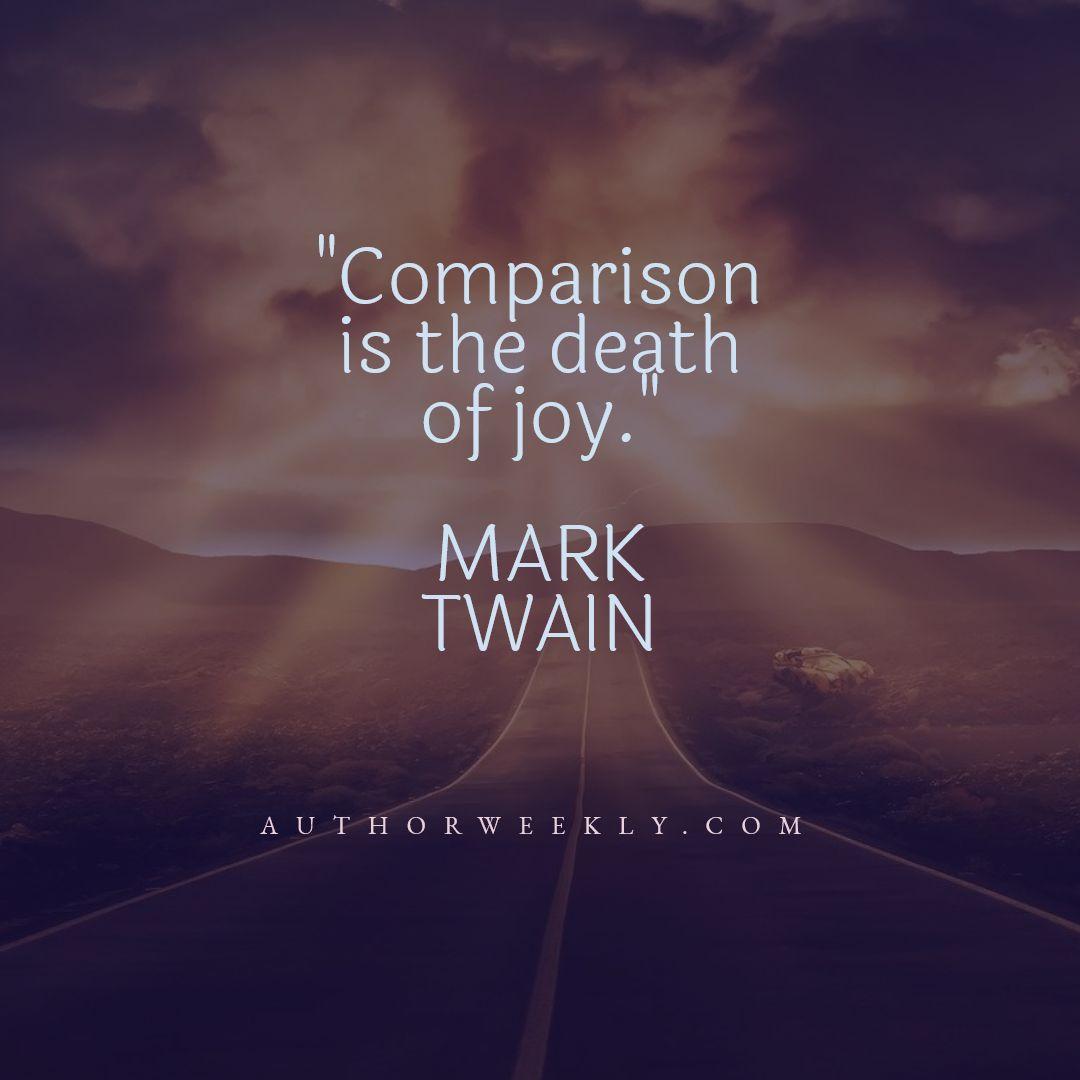 Mark Twain Writing Quote Comparison