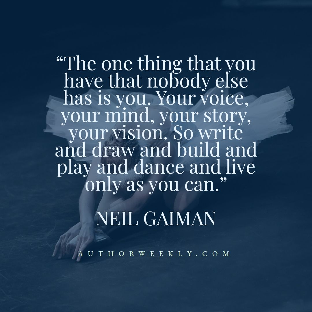 Neil Gaiman Creativity Quote Dance
