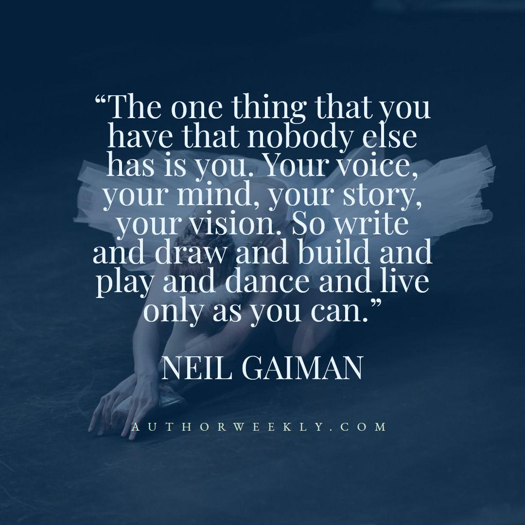 Neil Gaiman Creativity Quote Dance