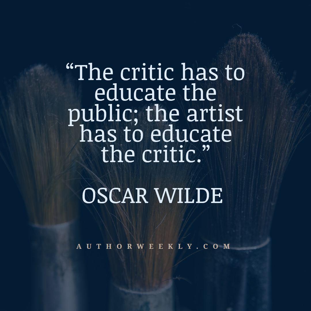 Oscar Wilde Creativity Quote the Critic