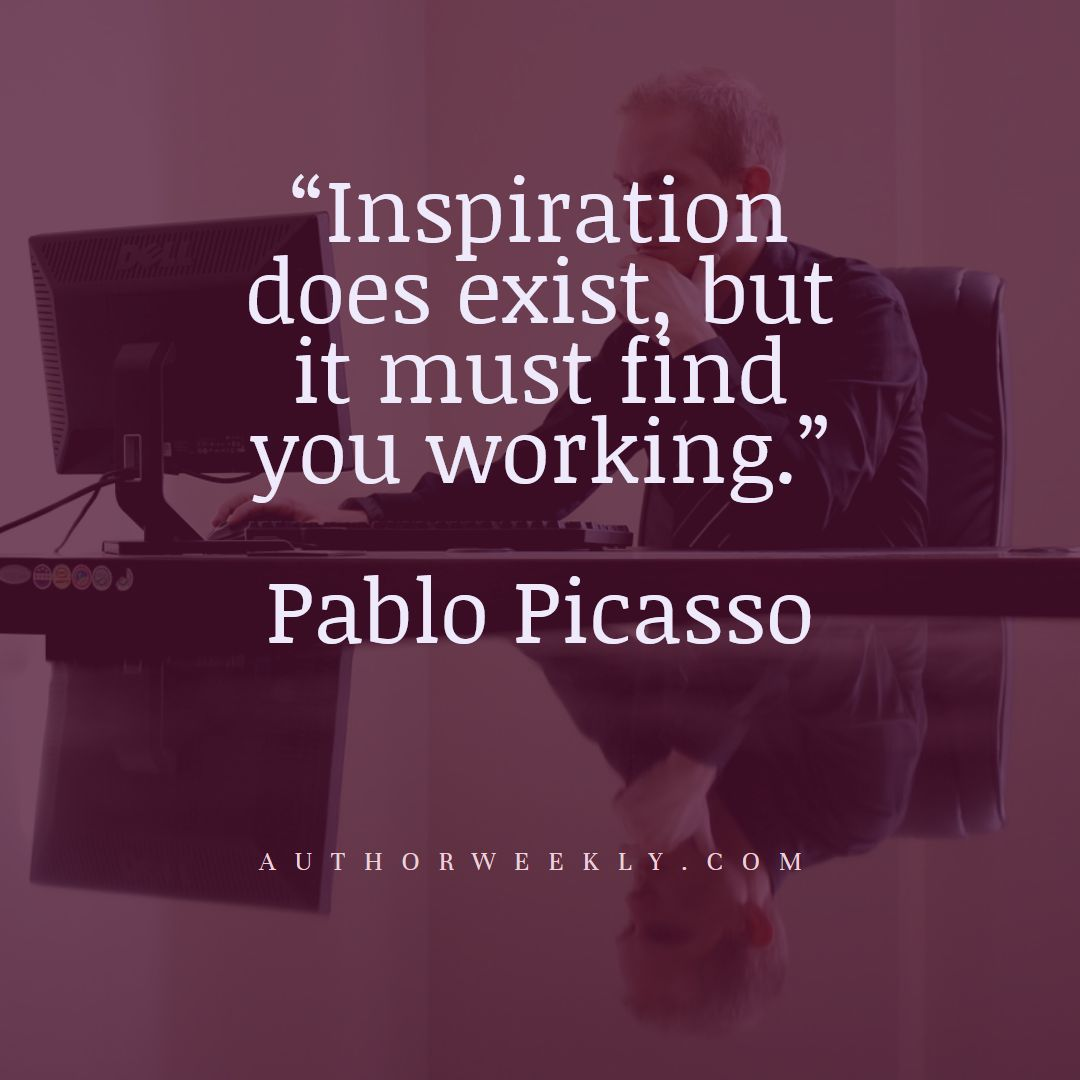 Pablo Picasso Creativity Quote Inspiration Does Exist