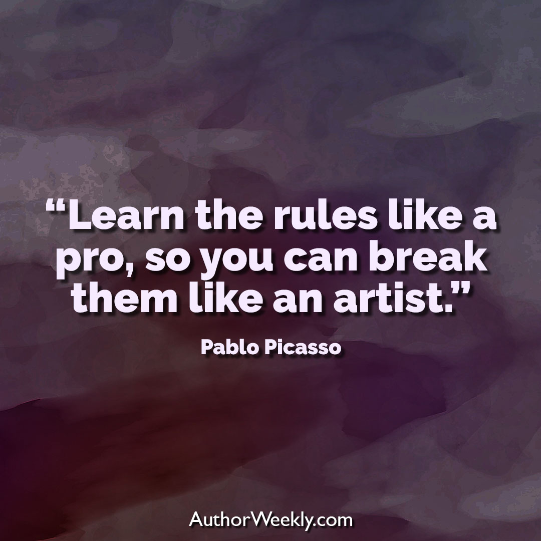 Pablo Picasso Creativity Quote Learn the Rules