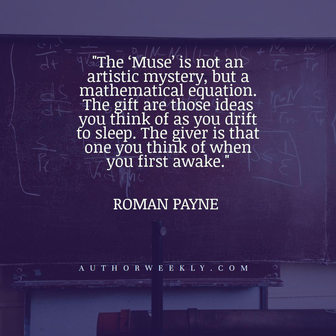 Roman Payne Creativity Quote Mathematical Equation