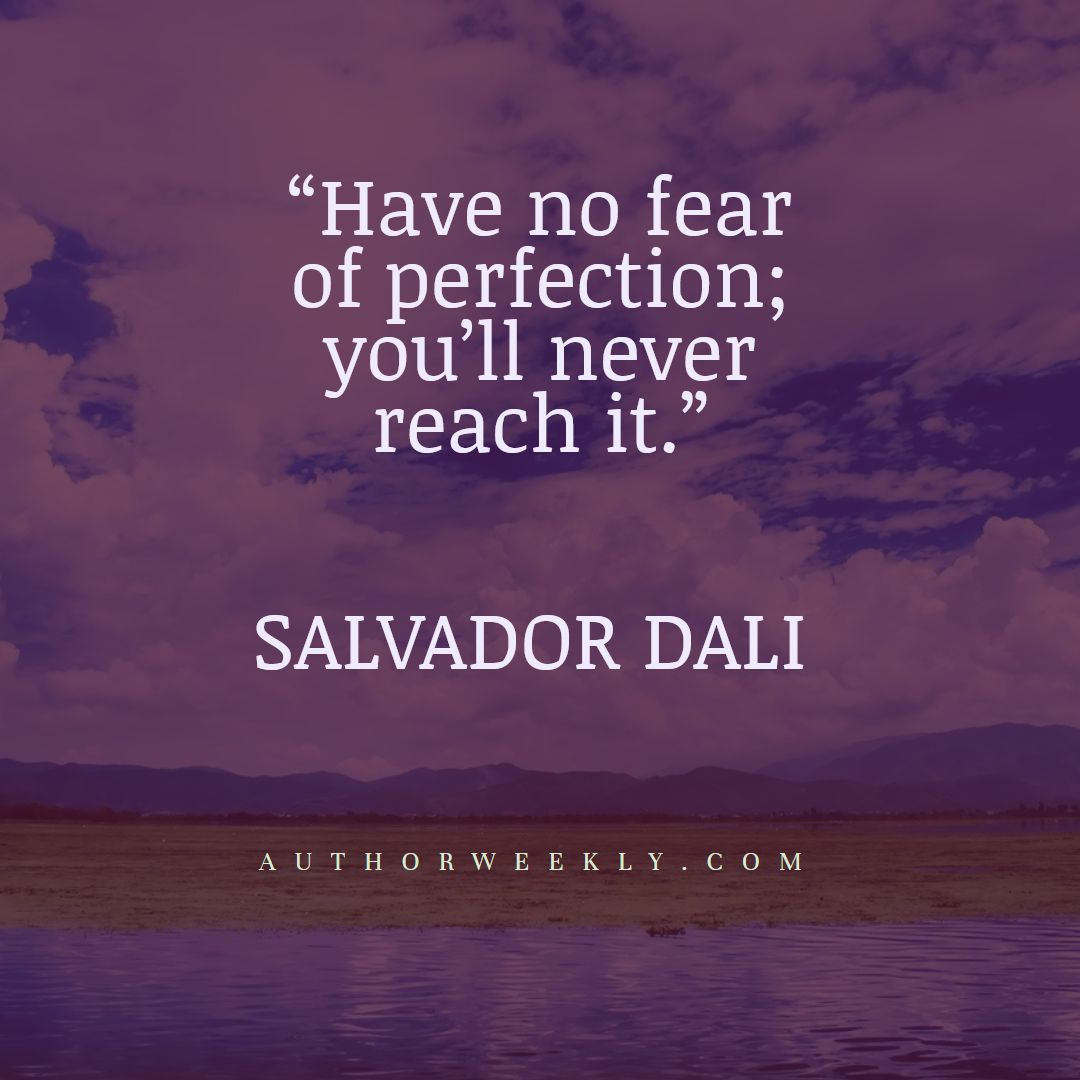 Salvador Dali Creativity Quote Perfection