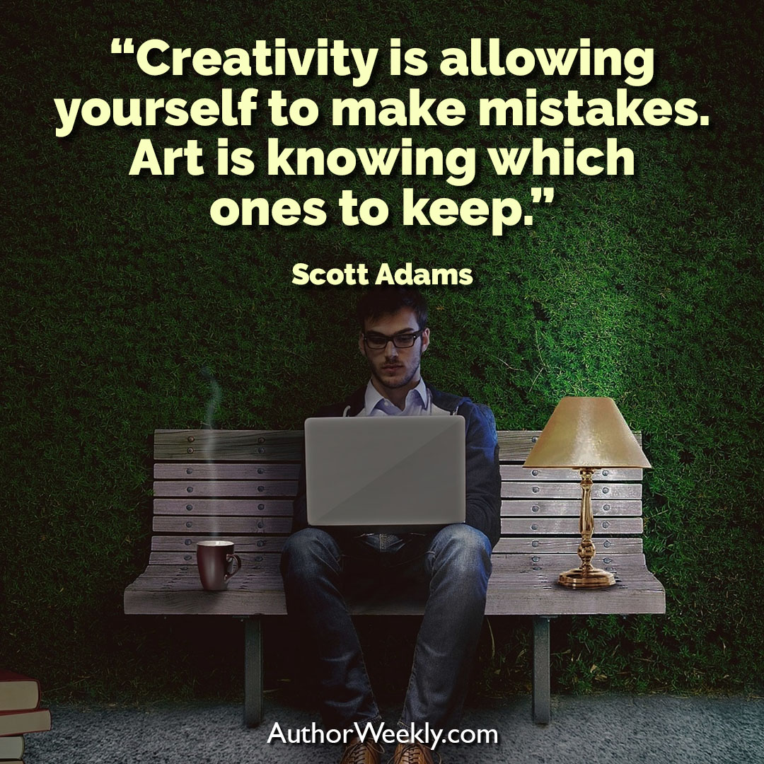 Scott Adams Creativity Quote Mistakes