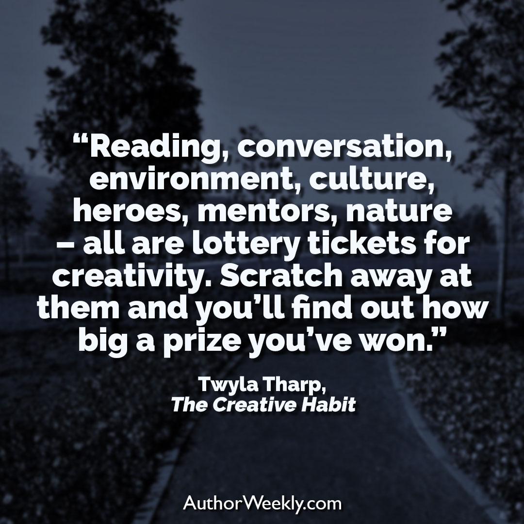 Twyla Tharp Creativity Quote Lottery Tickets