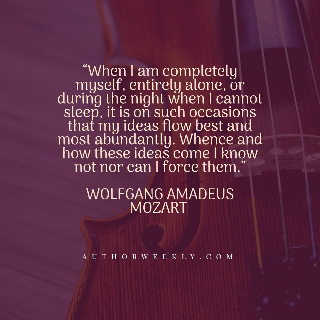 Wolfgang Amadeus Mozart Creativity Quote Such Occasions