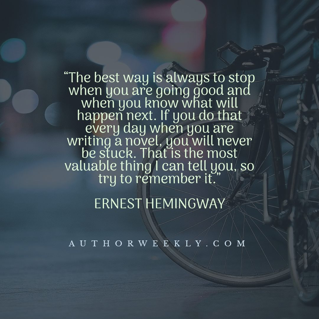 Ernest Hemingway Writing Quote the Best Way