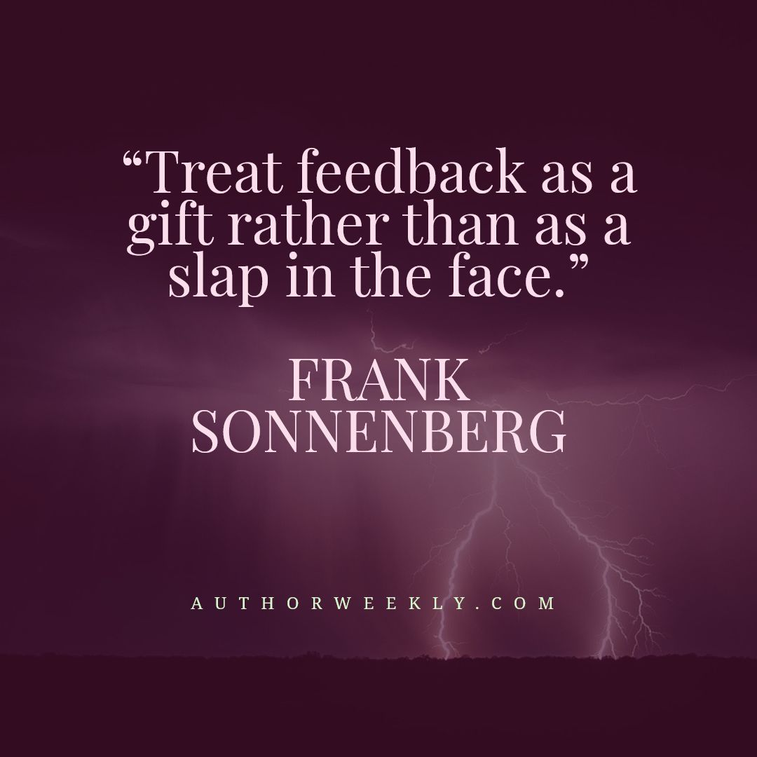 Frank Sonnenberg Writing Quote Feeback