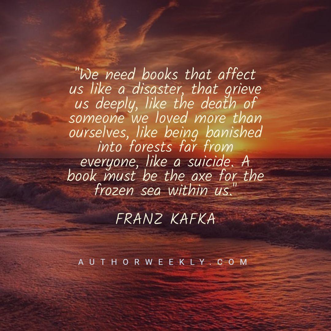 Franz Kafka Writing Quote