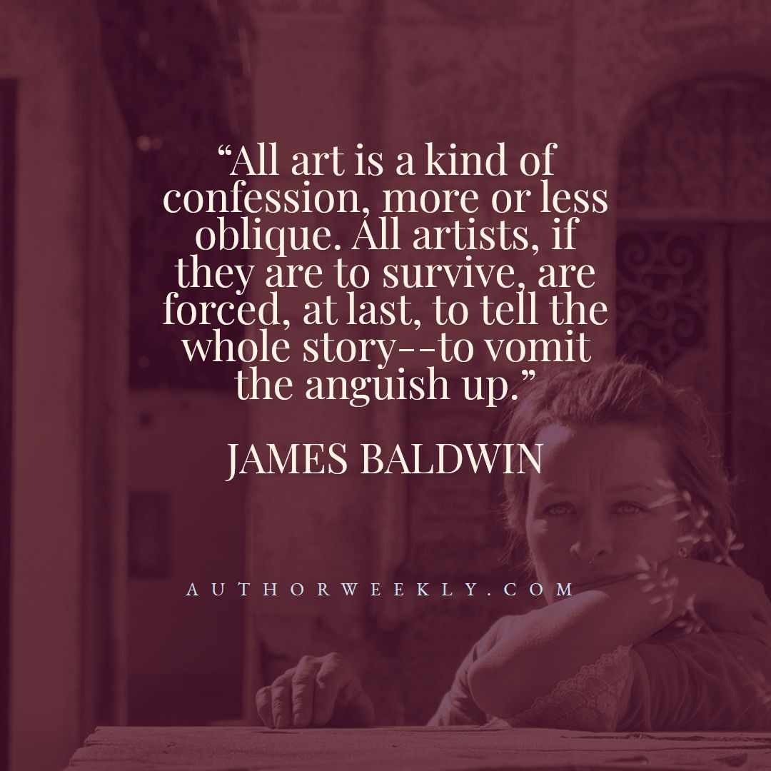 James Baldwin Creativity Quote Confession