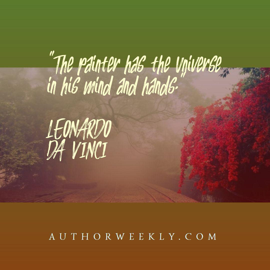 Leonardo Da Vinci Creativity Quote Universe