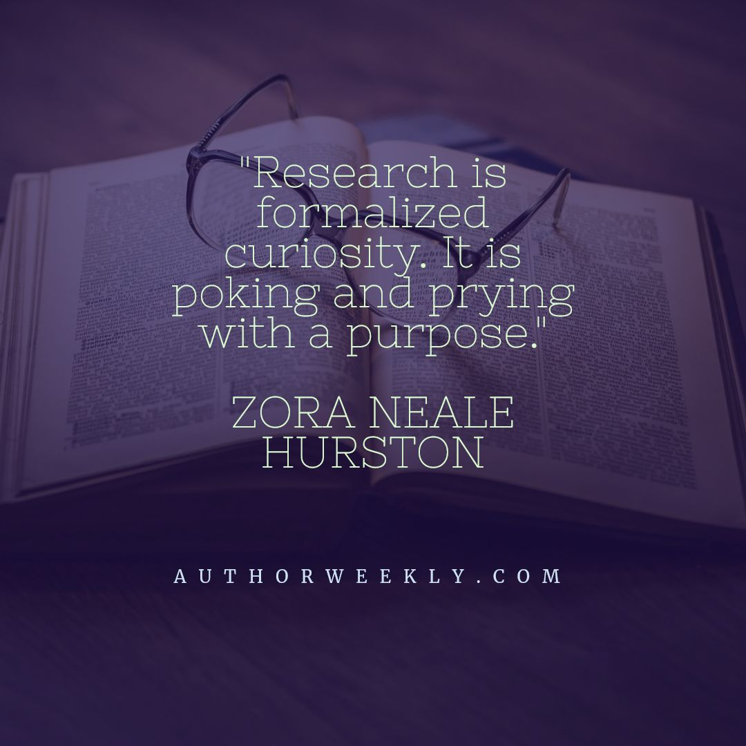 Zora Neale Hurston Writing Quote Research