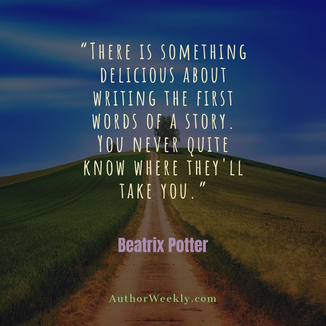 Beatrix Potter Writing Quote There Is Something Delicious