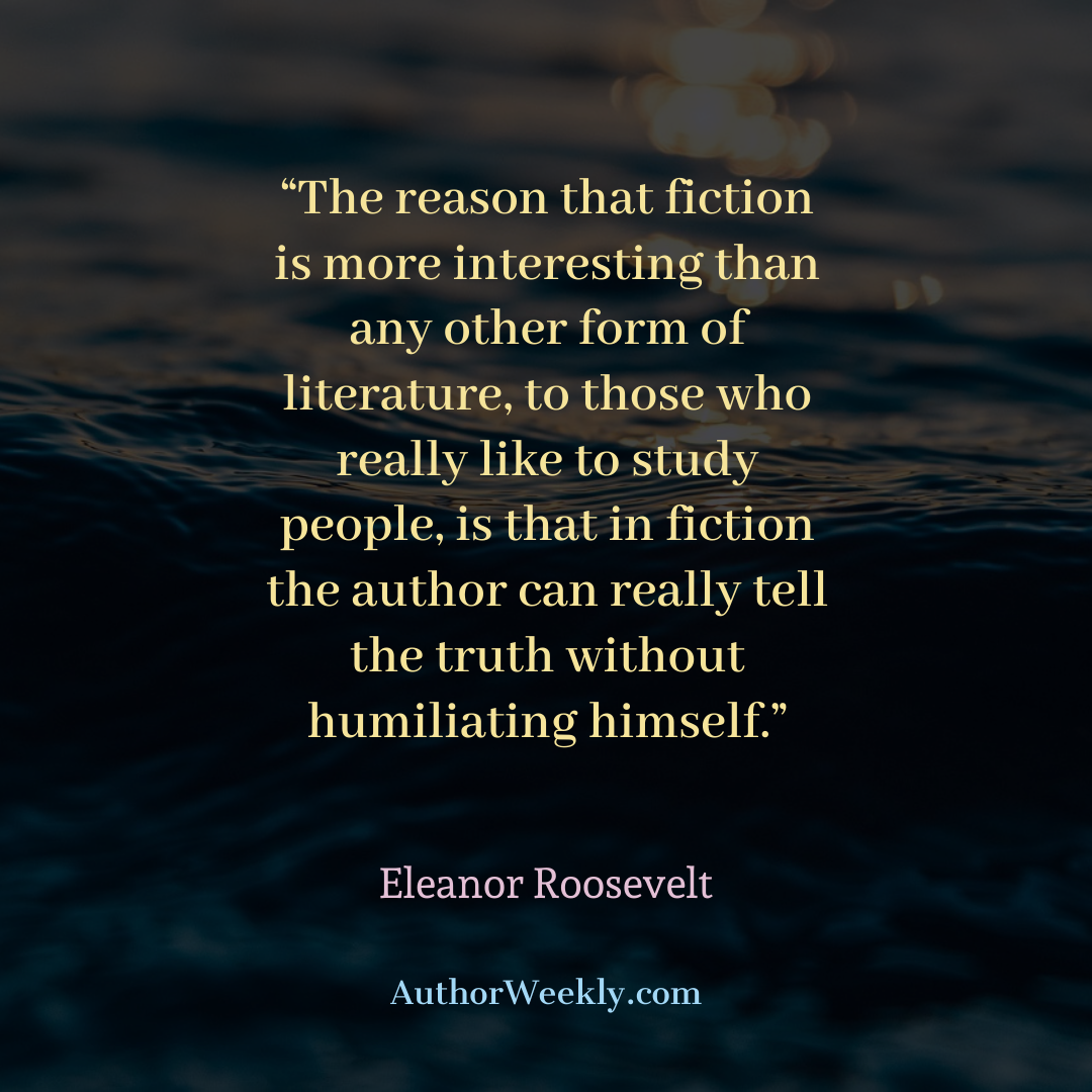 Eleanor Roosevelt Writing Quote Tell the Truth