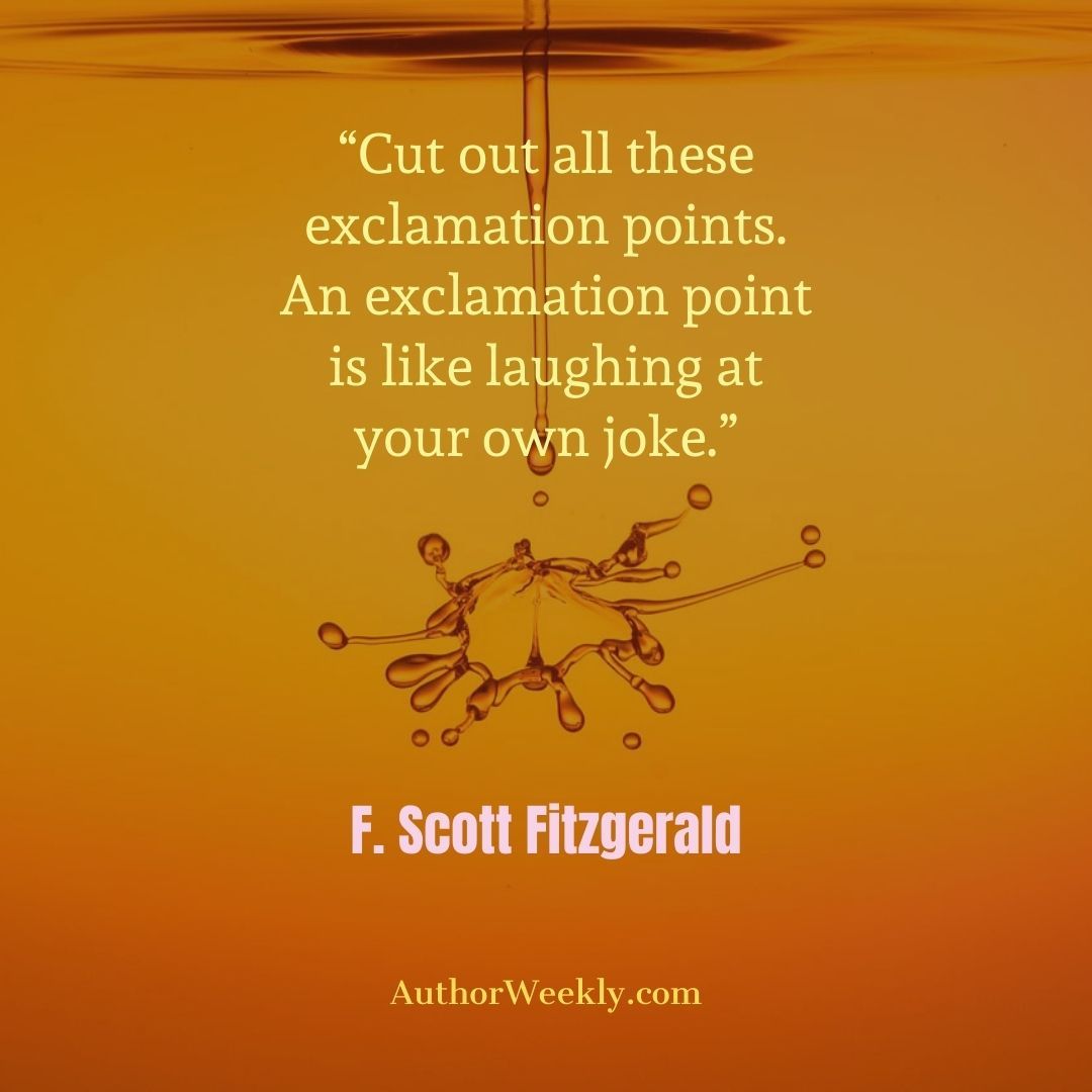F. Scott Fitzgerald Writing Quote Exclamation Points