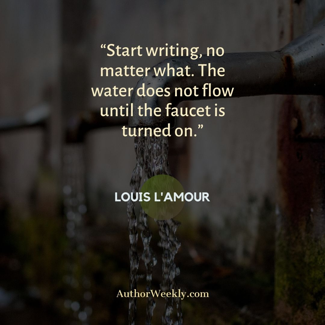 Louis L'Amour Writing Quote Faucet