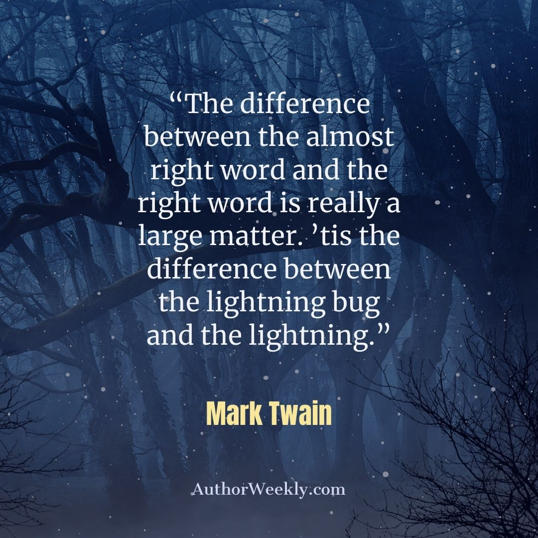 Mark Twain Quote on Writing Lightning