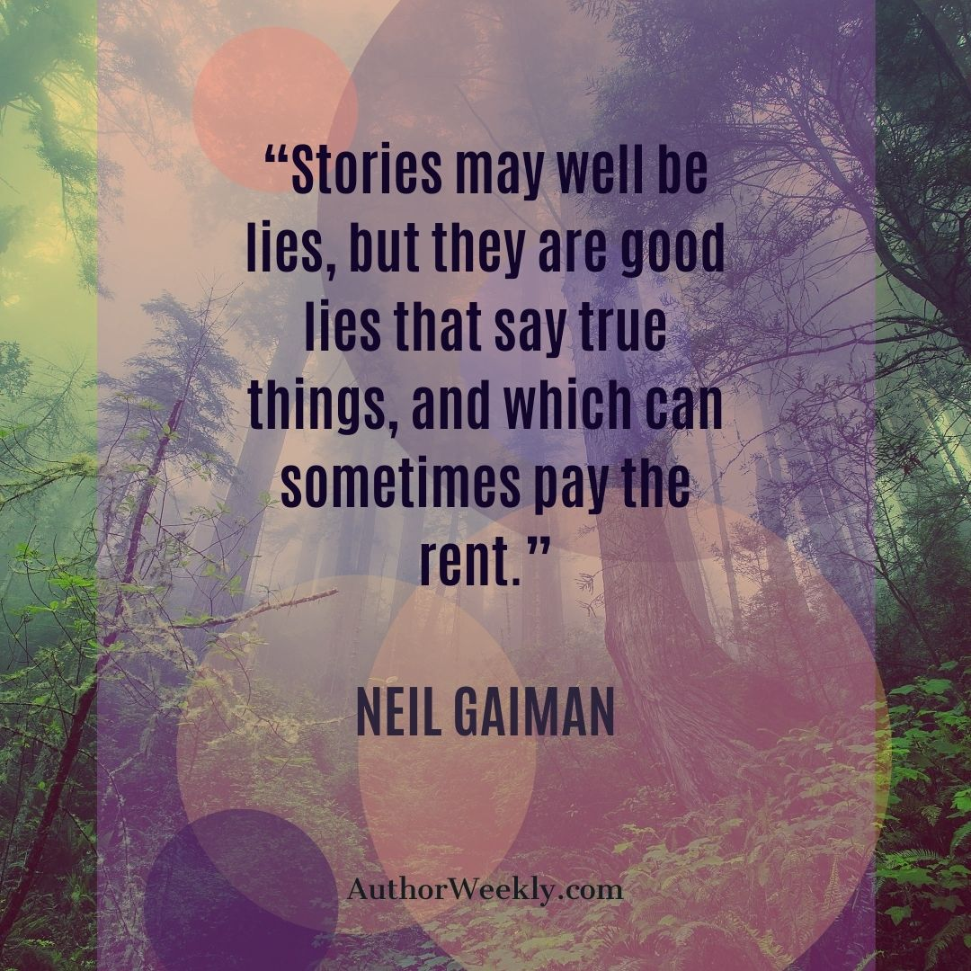 Neil Gaiman Writing Quote Stories