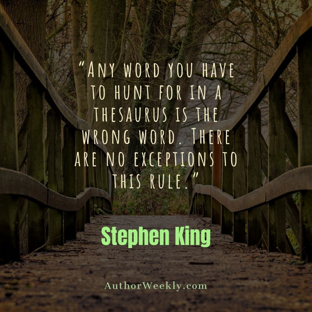 Stephen King Writing Quote Thesaurus